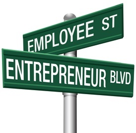 Entrepreneur Employee Street choice signs